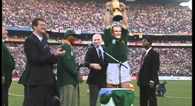 South Africa wins the 1995 World Rugby Cup - Source: Youtube